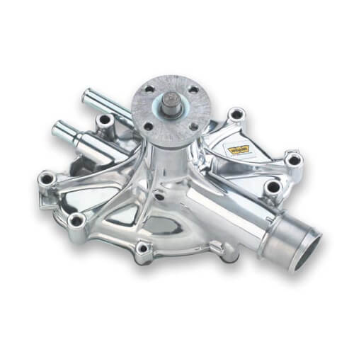 Weiands Polished Water Pump, 1986-93 Mustang. reverse rotation