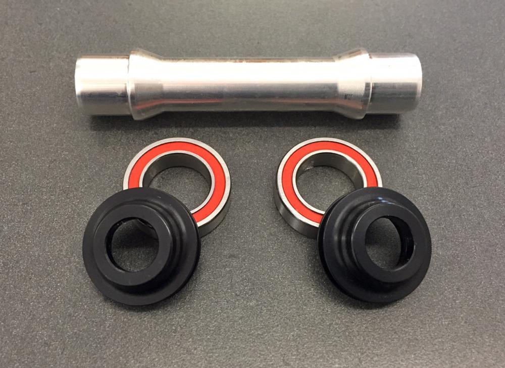 WMS 12mm Axle Conversion kit, DT Swiss 240s front QR hub, 6 bolt disc