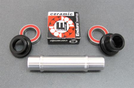 WMS 15mm Axle Conversion kit, DT Swiss 240s front QR hub, center lock disc
