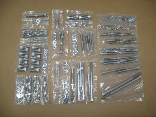 WMS 224 Pc Allen Stainless Steel Bolt Kit, 1986-93 Mustang SBF