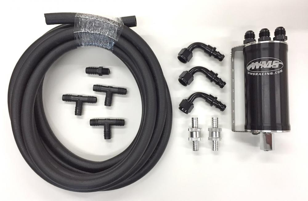 WMS Compact Catch Can 16oz with universal hose kit