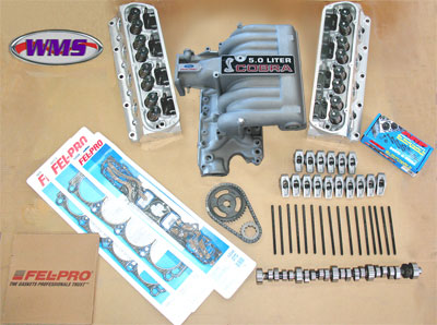 WMS Top End Kit, Edelbrock E-Street, 5.0 Mustang