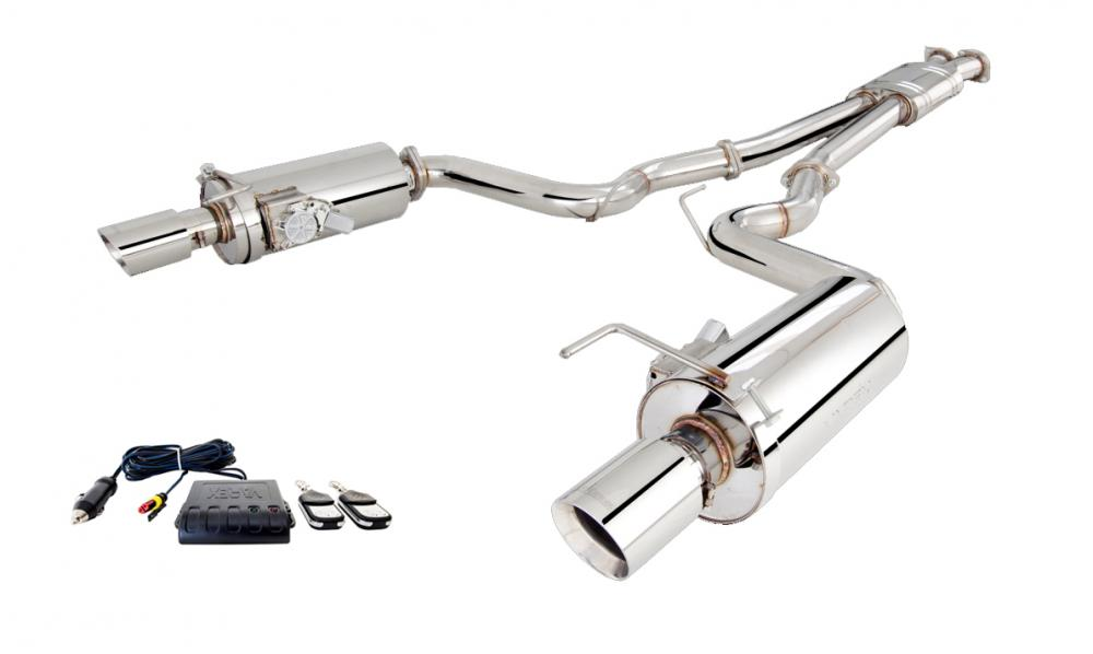 Xforce 3 Cat-Back Exhaust System, Round Varex Mufflers, 2015-2017 Mustang GT