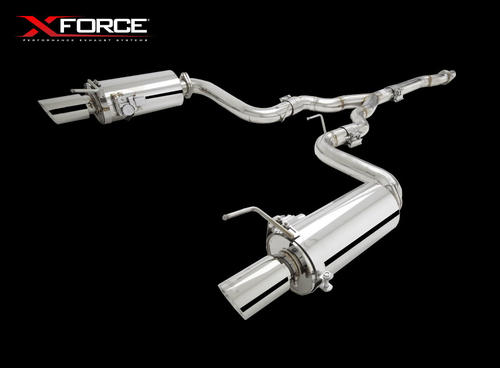 Xforce 3 Cat-Back Exhaust System With Varex Mufflers, 2015+ Mustang Ecoboost