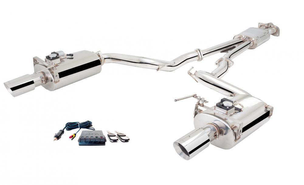 Xforce 2.5 Cat-Back Exhaust, Oval Varex Mufflers, 2015-2017 Mustang GT