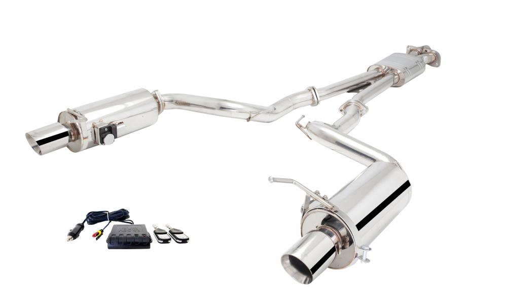 Xforce 2.5 Cat-Back Exhaust , Round Varex Mufflers, 2015-17 Mustang GT