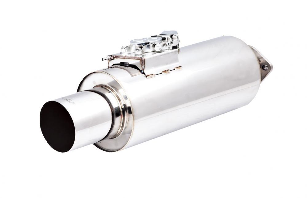 Xforce Varex Universal muffler, 7x16 round, 3in inlet, 4.5in tip